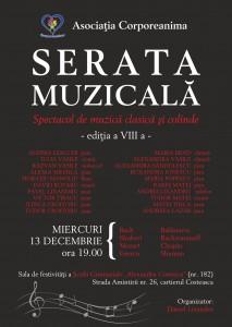 SERATA MUZICALĂ -EDIȚIA A VIII A –13 DECEMBRIE 2017