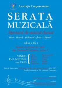 Serata muzicala ediția a IX a – 15 iunie 2018